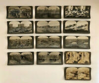 LOT OF 13 Antique Vintage KEYSTONE VIEW CARDS Stereoview Stereoscope WWI & Other