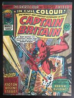 Captain Britain #8 1976 First Printing Marvel Comic Book 1st Psylocke Appearance