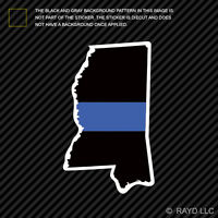 Mississippi State Shaped The Thin Blue Line Sticker Self Adhesive police MS