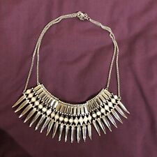 New Look Large Bulky Necklace Chunky Necklace Bib Necklace Silver Tone Necklace