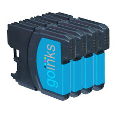 4 Cyan Ink Cartridges compatible with Brother DCP-145C DCP-375CW DCP-395CN