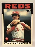 1986 Topps Tiffany Dave Concepcion baseball card Cincinnati Reds #195 1/5000 MLB