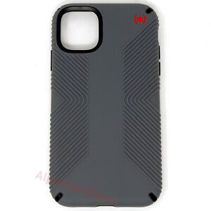 Speck iPHONE 11 Protective Case Presidio2 Grip Cathedral Gray Blood Red