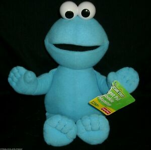 """13"""" BLUE COOKIE MONSTER FISHER PRICE MATTEL 2003 STUFFED ANIMAL PLUSH TOY W/ TAG"""