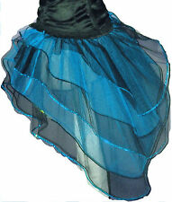 Blue Black Bustle Burlesque Fairy barbie Cyber Tutu Skirt dance Halloween party