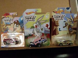 Hot Wheels Looney Tunes Scorcher,Poppa wheelie rockstar Character Car Collection