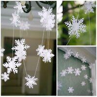 Party Paper Snowflake Garland Bunting Banner Xmas Wedding Decorations 3 Metres