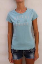 Replay Authentic Brand Wear, Light Blue Embroidered T Shirt UK 12 ( M) Nice