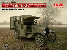 FORD MODEL T 1917 AMBULANCE (AMERICAN EXPEDITIONARY FORCE & FRENCH MKGS)1/35 ICM