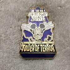 2003 Disney Mickey Mouse Tower Of Terror Twilight Zone Lapel Hat Pin Tie #K30