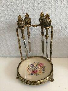 Vintage Manicure Set / Trinket Dish For Dressing Table