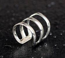 1x Ear Cuff Clip Silver Earring Punk Rock Clip ( UK SELLER )