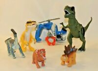 VTG Jurassic Park World Action Figures Dinosaurs Toy Set Lot Hasbro Helicopter