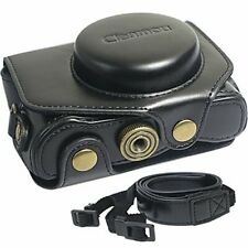 Clanmou G7 X MarkII Protective Leather Camera Case Bag Compatible Canon PowerSho