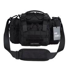 Onetigris Tactical Deployment Bag con cinturino spalle e Vita (Nero)