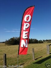 """""""Open"""" Swooper Flag - Great for advertising that your business is OPEN for trade"""