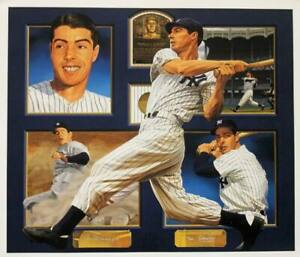 Yankees Joe Dimaggio Signed 31X36 Composite Litho Limited Edition 373/388 PSA