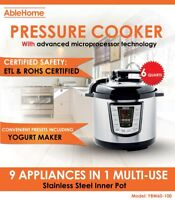 Electric Pressure Cooker Multi-function 6 Quarts 1000W Stainless Steel Yogurt UL