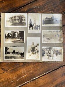 50 Old Photos On Album Pages New Zealand c1925 Maori Wellington Rotorua &c
