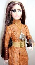 "Steam Punk Cami OOAK Tonner 16"" Doll Brunette + Steampunk Gun Accessory"
