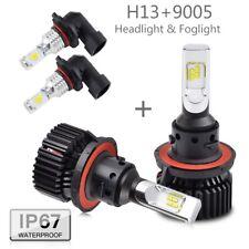 For Ford F150 2004-2014 4x H13 9145 9140 LED Headlight Fog Light Combo Bulbs Kit
