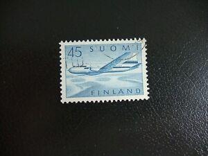 Finland 1959 Scott 519 Air Mail 45mk Blue. Used Stamp.
