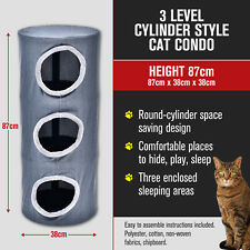 3 Multi Level Cat Kitten Condo Tower Furniture Hideaway 87cm
