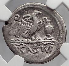 Roman Republic Cassius Longinus Julius Caesar Time Silver Roman Coin NGC i59887