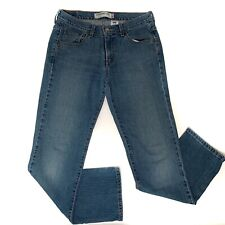Levis 505 Women's Straight Leg Blue Wash Denim Jeans Red Tab Size 8 M / 30