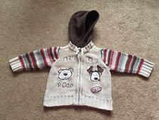 Matalan Boys Chunky Knit Cardigan Jacket Hooded Size 3-6 Months VGC !