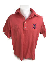 Vintage United Airlines Hawaiian Open Golf Polo Shirt Hawaii Coral Pink Size M