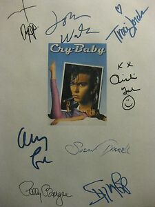 Cry Baby Signed Film Script X8 Johnny Depp Iggy Pop Traci Lords John Waters  rpt