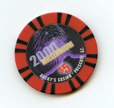 $5.00 Chip. Bucky's Casino. Prescott, AZ.