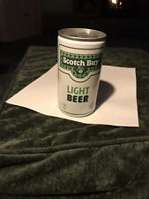 Scotch Buy light beer 12 oz pull tab bottom opened empty beer can.