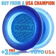 YoYoFactory Replay Responsive Beginner Yo-Yo - Blue + FREE STRINGS