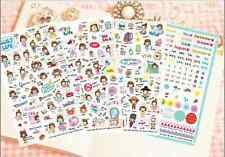 #06 Petitworld Cute Girl PVC Stickers Deco 4 sheets