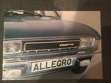 AUSTIN ALLEGRO orig 1977 UK Mkt Sales Brochure in VGC