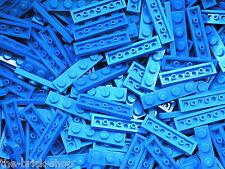 25 x plaque plate 1x4 LEGO bleu blue plates ref 3710 / set 10177 7676 7644 7744