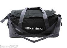 Karrimor Cargo 40L Black & Grey Travel Sport Holdall Backpack w Lockable Zips