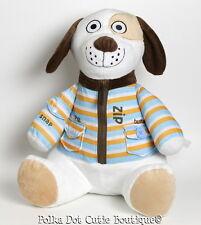 Avon Tiny Tillia Plush Puppy Dog Zip Button Snap Learning Plush Toy EUC