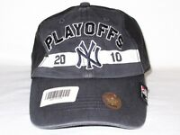 New York NY Yankees '47 Brand MLB Baseball 2010 Playoffs Cap Hat MSRP Black Gray