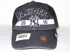New York NY Yankees  47 Brand MLB Baseball 2010 Playoffs Cap Hat MSRP Black  Gray 298909370e54