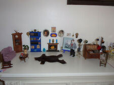 New listing Vintage Dollhouse lot Man Cave Early American living room Rare furnishings 85 pc