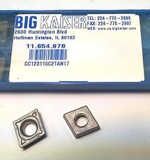 "1pc Big Kaiser 11.654.978 Carbide Inserts Milling Cutter End Mill Tool 1/2"" 3/16"