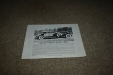 Elite Heritage Motors Corp Duesenberg Ii replica brochure Royalton Torpedo Speed