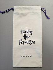 "Monat 'Healthy Hair Revolution' Drawstring Canvas Storage Bag 13"" x 6"" - New!"