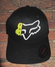 032cc4bda23 MENS FOX FLEXFIT FITTED BLACK HAT CAP SIZE L XL