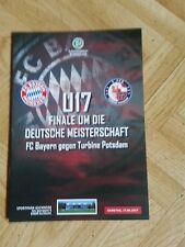 Programm Endspiel Meisterschaft B-Juniorinnen FC Bayern München Turbine Potsdam