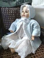"""Vintage 1966 MADAME ALEXANDER Victoria 18"""" Crier Baby Doll Antique Dress"""