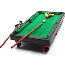 Mini Pool Table Flocking desktop Simulation Billiards Table Set Sport Balls T PL